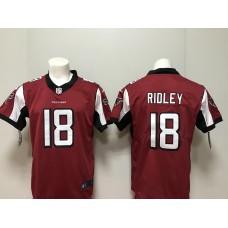 Men 2018 Atlanta Falcons 18 Ridley Red Vapor Untouchable Player Nike Limited NFL Jerseys