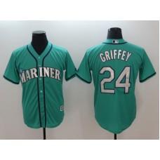 Men 2018 MLB Seattle Mariners 24 Griffey Green Jerseys