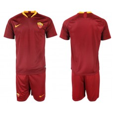 Men 2018-2019 club Rome home blank red soccer jersey