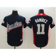 Men Cleveland Indians 11 Ramirez Blue All star MLB Jerseys