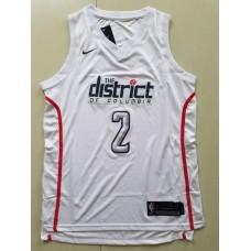 Men Washington Wizards 2 John Wall white game Nike NBA Jerseys