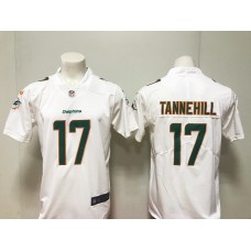 MenMiami Dolphins 17 Ryan Tannehill Nike White New 2018 Game Jersey