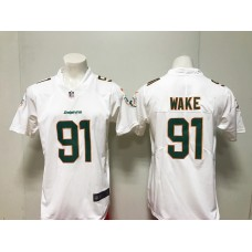 MenMiami Dolphins 91 Cameron Wake Nike white New 2018 Game Jersey