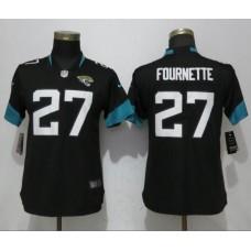 Women Jacksonville Jaguars 27 Fournette Black Vapor Untouchable Elite Player Nike NFL Jerseys
