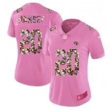 Women New Nike Jacksonville Jaguars 20 Ramsey Pink Camouflage font love pink 2017 Vapor Untouchable Elite Player