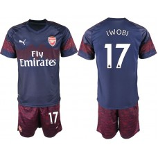 Men 2018-2019 club Arsenal away 17 blue soccer jersey