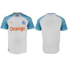 Men 2018-2019 club Olympique de Marseille home aaa version white soccer jersey