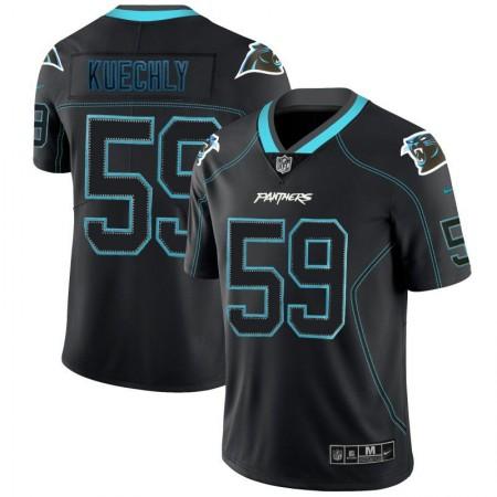 Men Carolina Panthers 59 Kuechly Nike Lights Out Black Color Rush Limited NFL Jerseys