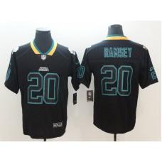 Men Jacksonville Jaguars 20 Ramsey Nike Lights Out Black Color Rush Limited NFL Jerseys
