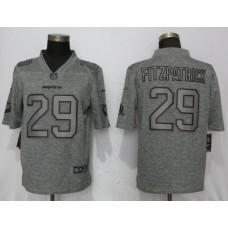 Men Miami Dolphins 29 Fitzpatrick Gray Vapor Untouchable Stitched Gridiron Nike Limited NFL Jerseys