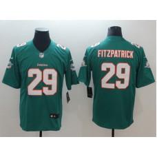 Men Miami Dolphins 29 Fitzpatrick Green Nike Vapor Untouchable Limited NFL Jerseys