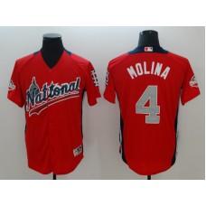 Men St.Louis Cardinals 4 Molina Orange Game 2018 All star MLB Jerseys