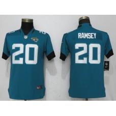 Women Jacksonville Jaguars 20 Ramsey Green Vapor Untouchable Player Nike NFL Jerseys