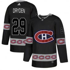 2018 NHL Men Montreal Canadiens 29 Dryden black jerseys