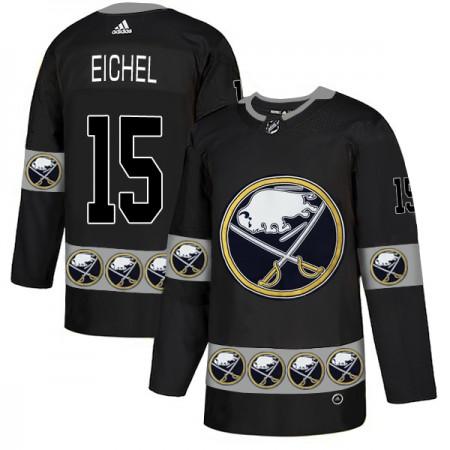 2019 Men Buffalo Sabres 15 Eichel Black Adidas NHL jerseys