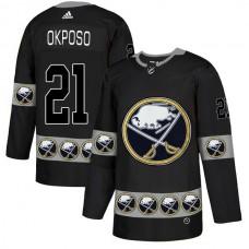 2019 Men Buffalo Sabres 21 Okposo Black Adidas NHL jerseys