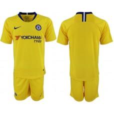 Men 2018-2019 club Chelsea away yellow soccer jersey