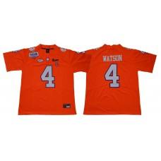 Men Clemson Tigers 4 Watson Orange Diamonds NCAA Jerseys