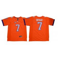 Men Clemson Tigers 7 Bryant Orange NCAA Jerseys