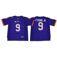 Men Clemson Tigers 9 Etienne jr purple NCAA Jerseys