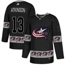 Men Columbus Blue Jackets 13 Atkinson Black Adidas Fashion NHL Jersey