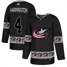 Men Columbus Blue Jackets 4 Harrington Black Adidas Fashion NHL Jersey