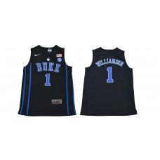 Men Duke Blue Devils 1 Williamson Black NBA NCAA Jerseys