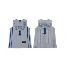 Men Duke Blue Devils 1 Williamson White NBA NCAA Jerseys