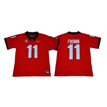 Men Georgia Bulldogs 11 Fromm Legend red NCAA Jerseys