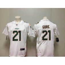 Men Miami Dolphins 21 Gore White Nike Vapor Untouchable Limited Playe NFL Jerseys
