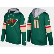 Men Minnesota wild 11 zach parise green hoodie