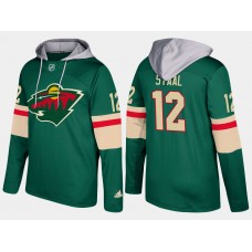 Men Minnesota wild 12 eric staal  green hoodie