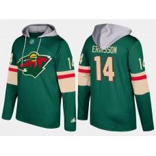 Men Minnesota wild 14 joel eriksson green hoodie