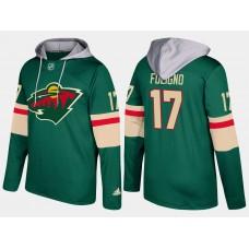 Men Minnesota wild 17 marcus foligno green hoodie
