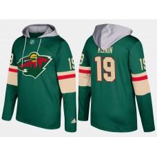 Men Minnesota wild 19 luke kunin green hoodie