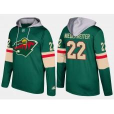 Men Minnesota wild 22 nino niederreiter green hoodie