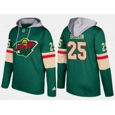 Men Minnesota wild 25 jonas brodin green hoodie