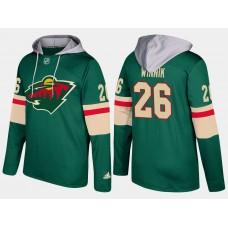 Men Minnesota wild 26 daniel winnik green hoodie