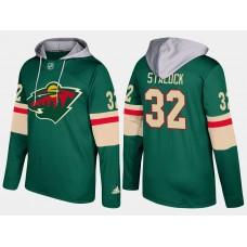 Men Minnesota wild 32 alex stalock green hoodie