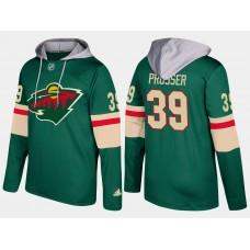 Men Minnesota wild 39 nate prosser green hoodie