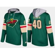Men Minnesota wild 40 devan dubnyk green hoodie