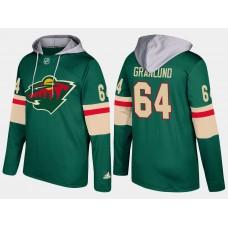 Men Minnesota wild 64 mikael granlund green hoodie