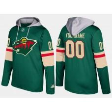 Men Minnesota wild customized green hoodie