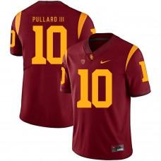 Men USC Trojans 10 Pullard iii Red Customized NCAA Jerseys