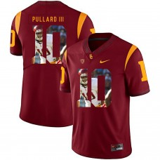 Men USC Trojans 10 Pullard iii Red Fashion Edition Customized NCAA Jerseys