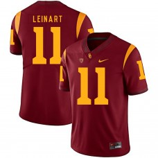 Men USC Trojans 11 Leinart Red Customized NCAA Jerseys