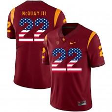 Men USC Trojans 22 Mcquay iii Red Flag Customized NCAA Jerseys