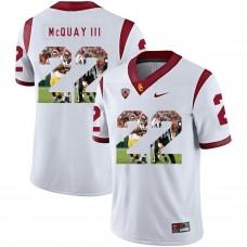 Men USC Trojans 22 Mcquay iii White Fashion Edition Customized NCAA Jerseys