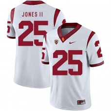 Men USC Trojans 25 Jones ii White Customized NCAA Jerseys