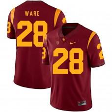 Men USC Trojans 28 Ware Red Customized NCAA Jerseys
